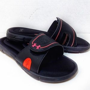 Under Armour Women's Slides Black and Pink